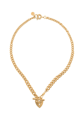 Gas Bijoux Locked heart padlock necklace - GOLD