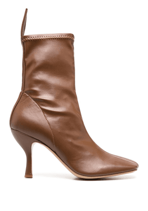 Gia Couture pointed toe boots - Brown