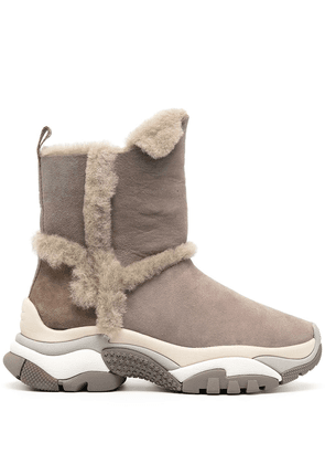 Ash Alpes suede snow boots - Grey