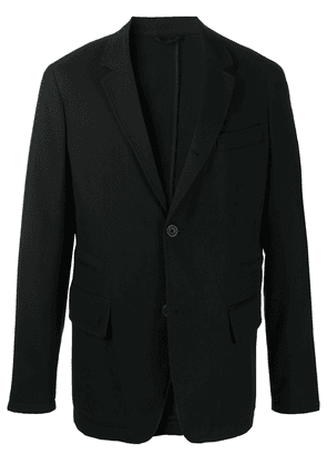 Closed fitted single-brested jacket - Black