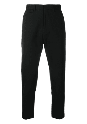 Closed mid-rise trousers - Black