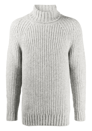 Closed chunky knit jumper - Grey