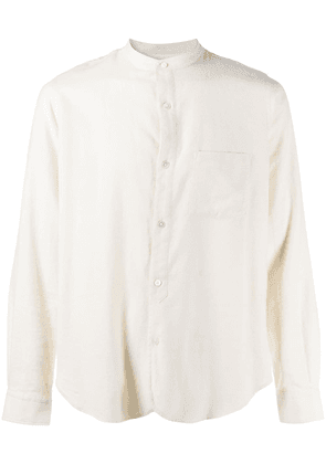 Closed band collar shirt - Neutrals