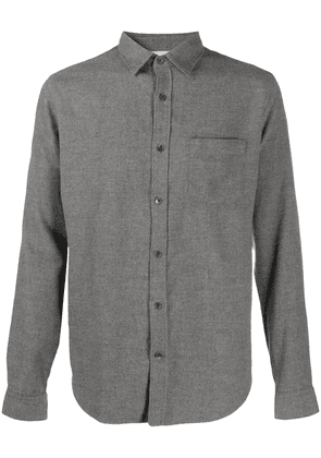 Closed plain button shirt - Grey