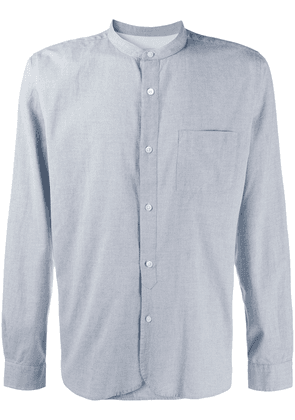 Closed band collar shirt - Blue