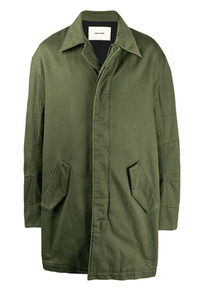 Zadig&Voltaire Keith mid-length parka - Green