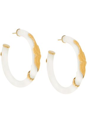 Gas Bijoux Cobra earrings - White