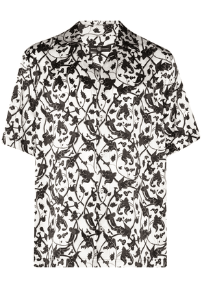 Edward Crutchley x Browns 50 vines print shirt - Black