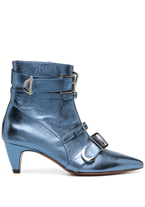 Alexa Chung multi-buckle ankle boots - Blue