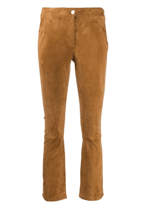Arma cropped suede trousers - Brown