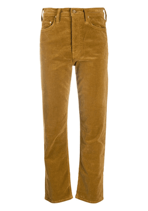 MOTHER The Tomcat cropped jeans - Brown