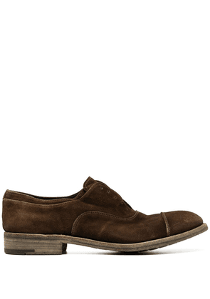 Premiata faded lace-up shoes - Brown