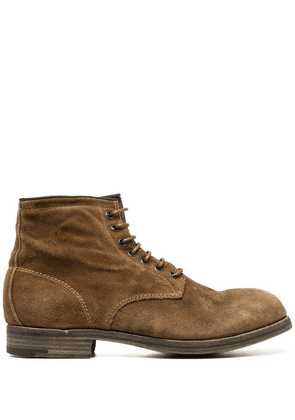 Premiata lace-up ankle boots - Brown