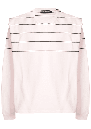 Y/Project long sleeve layered shirt T-shirt - PINK