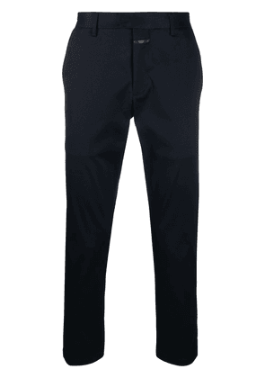 Closed straight-leg tailored trousers - Blue