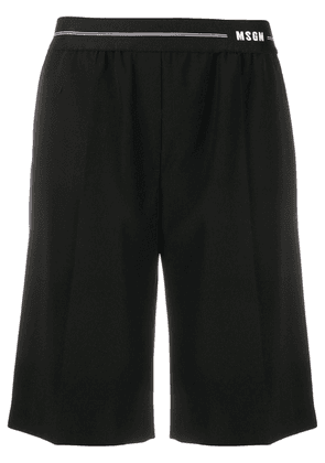 MSGM elasticated-waist bermuda shorts - Black