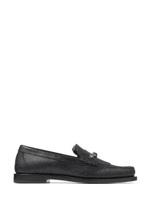Jimmy Choo stone-detail Mocca loafers - Black
