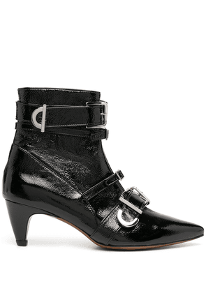 Alexa Chung multi-buckle ankle boots - Black