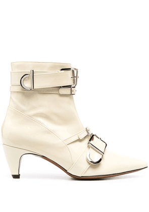 Alexa Chung multi-buckle ankle boots - Neutrals