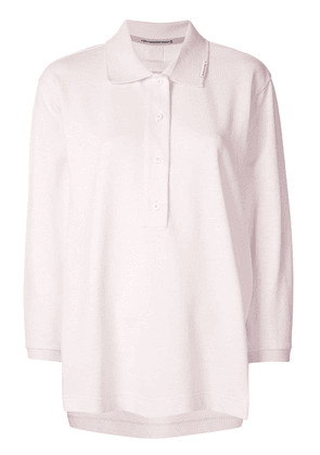 Alexander Wang double sleeve polo top - PINK