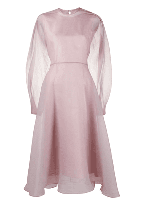 Beaufille puff-sleeve organza dree - Pink