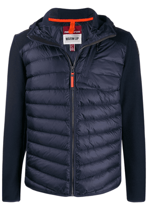 Parajumpers jersey-panelled puffer jacket - Blue