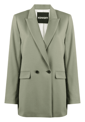 Frenken double breasted blazer - Green