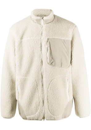 Descente Allterrain shearling bomber jacket - White