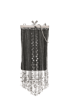 Prada beaded fringe clutch - Black
