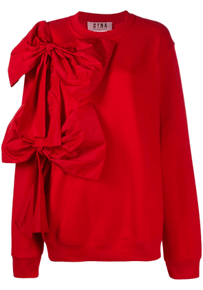 Gina oversized bow sweatshirt - Red