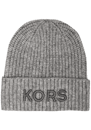 Michael Kors knitted beanie hat - Grey