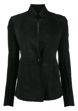 Isaac Sellam Experience fitted leather jacket - Black