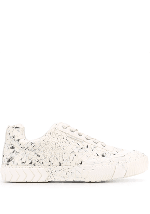 Both textured style sneakers - White