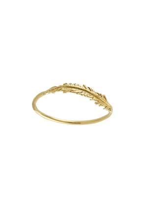 Alex Monroe 18kt yellow gold Plume Wisp ring