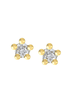 Alex Monroe 18kt yellow gold Beekeeper diamond studs
