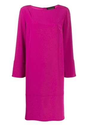 Gianluca Capannolo long sleeve shift dress - PINK