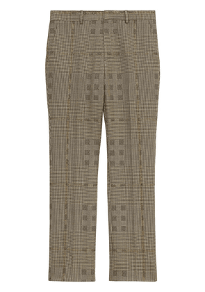 Burberry tailored checked trousers - Brown