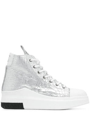 Cinzia Araia snakeskin effect high top sneakers - Silver
