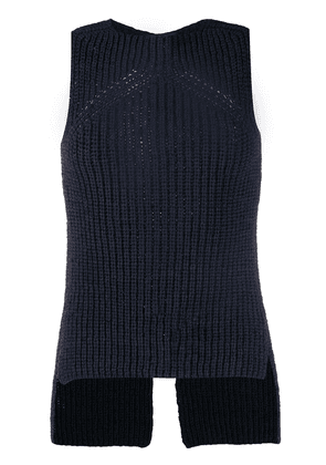 Eudon Choi two-tone knitted vest - Blue