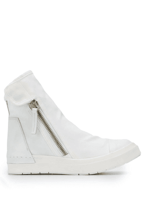 Cinzia Araia side zipped sneakers - White