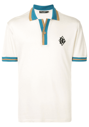 Dolce & Gabbana DG embroidered polo shirt - White