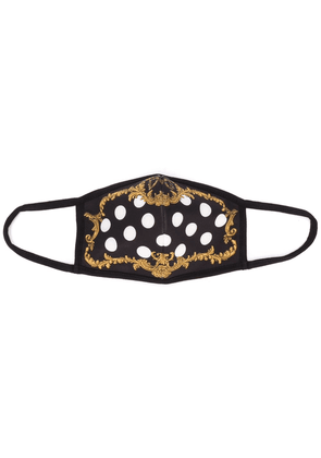 Dolce & Gabbana Baroque and polka-dot face mask - Black
