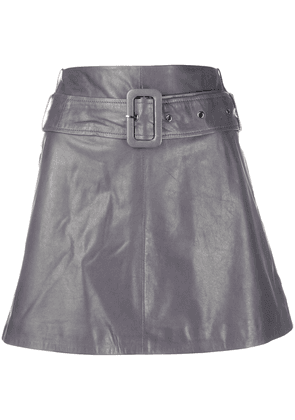Arma high-rise A-line mini skirt - Grey