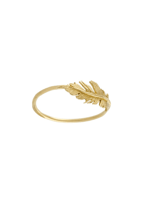 Alex Monroe 18kt yellow gold Plume ring