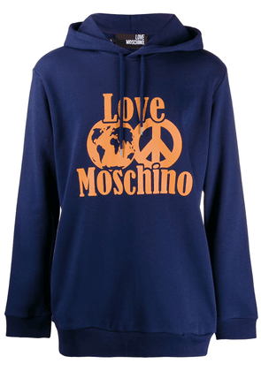 Love Moschino world peace hoodie - Blue