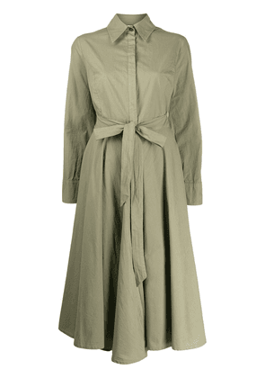 Erika Cavallini belted shirt dress - Green