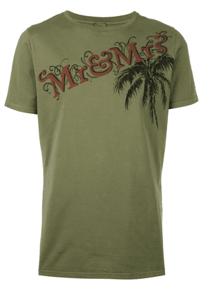Mr & Mrs Italy logo print T-shirt - Green