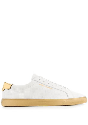 Saint Laurent Andy perforated sneakers - White