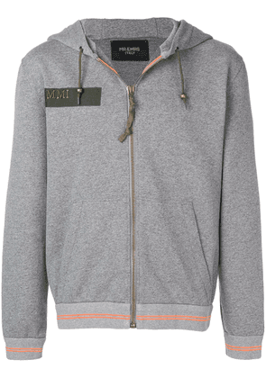 Mr & Mrs Italy embroidered pegasus hoodie - Grey