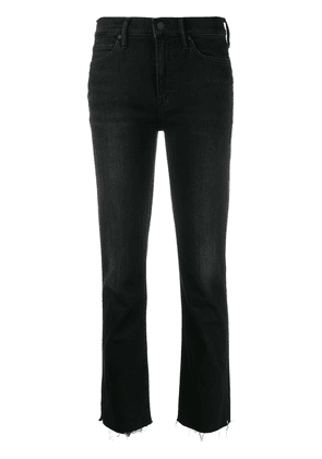 MOTHER high-rise raw cropped jeans - Black